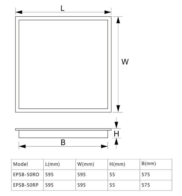 EPSB-R尺寸图