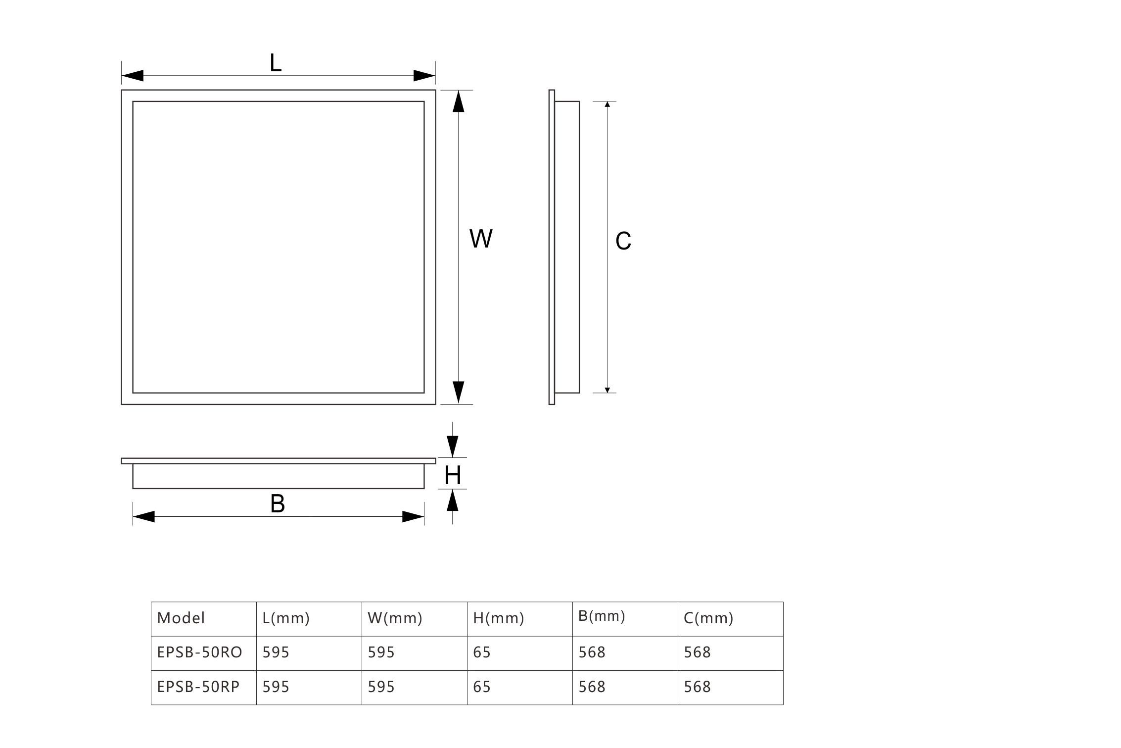 EPSB-R 尺寸 图