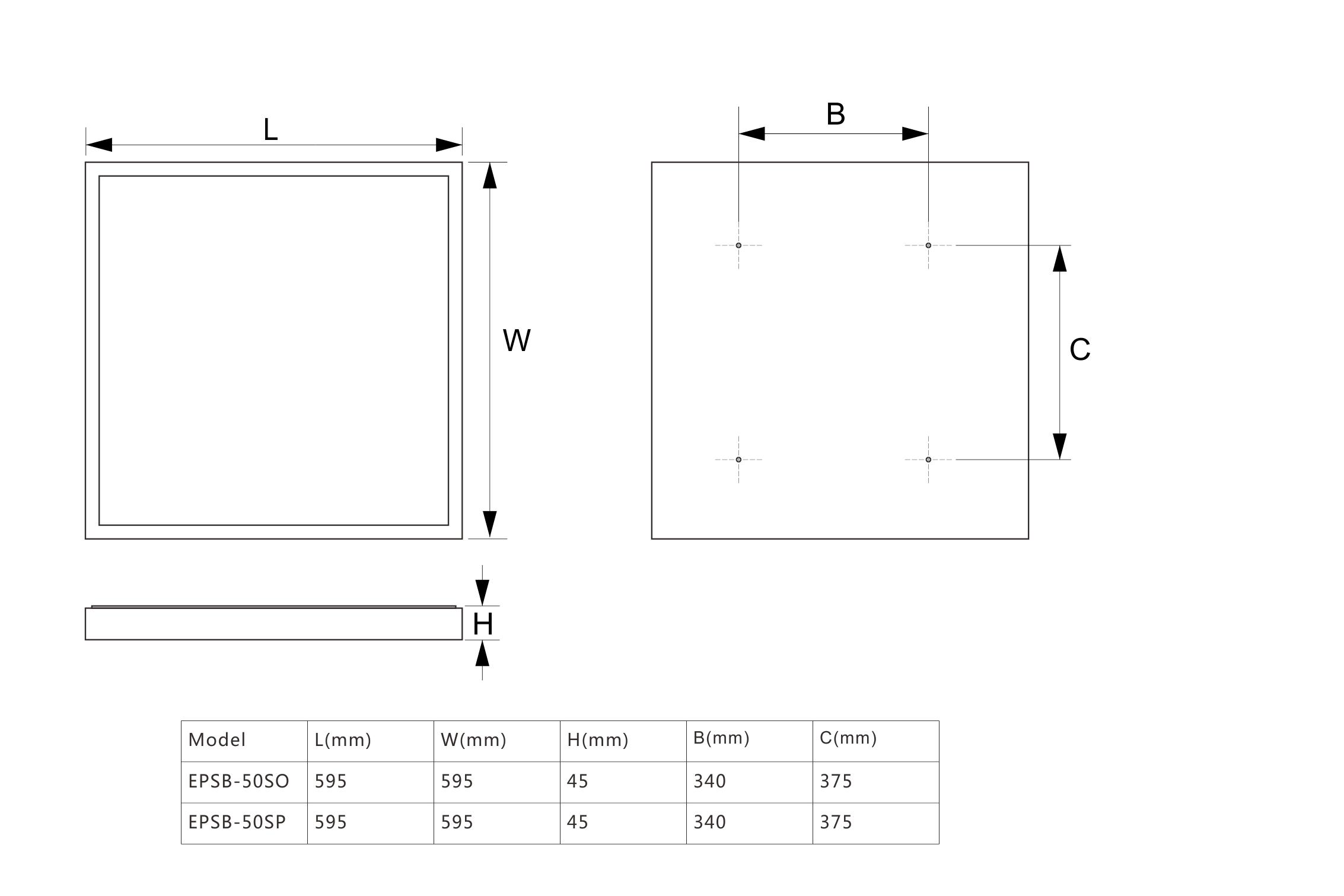 EPSB-S尺寸图