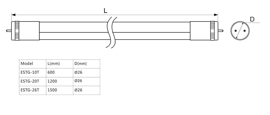 ESTG-T尺寸图